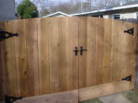 custom reinforced wood gates